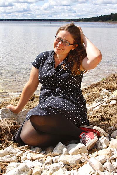 Katie Dahl on the Beach